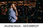 young businessman having a...   Shutterstock . vector #665288029
