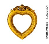 Gold frame in heart shape...