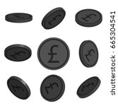flat cartoon coins with pound...   Shutterstock .eps vector #665304541