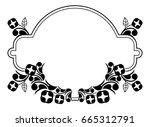 black and white silhouette... | Shutterstock .eps vector #665312791