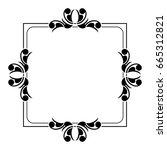 black and white silhouette... | Shutterstock .eps vector #665312821