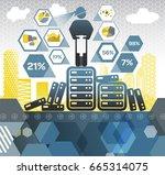 data crunching | Shutterstock .eps vector #665314075