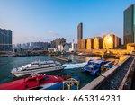 china ferry terminal   hong... | Shutterstock . vector #665314231