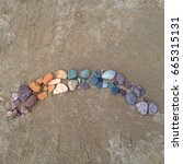 Colorful Stones Arranged In...