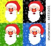 Santa Christmas  background, vector illustration - stock vector