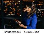 confident young businesswoman...   Shutterstock . vector #665318155