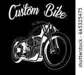 custom bike vector | Shutterstock .eps vector #665325475