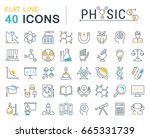 set of line icons  sign and... | Shutterstock . vector #665331739