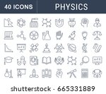 set of line icons  sign and... | Shutterstock . vector #665331889
