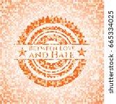 between love and hate orange... | Shutterstock .eps vector #665334025