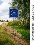 czech border sign | Shutterstock . vector #665337739