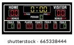 isolated basketball scoreboard... | Shutterstock .eps vector #665338444