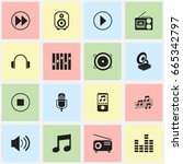 set of 16 editable sound icons. ...