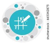 vector illustration of gambling ... | Shutterstock .eps vector #665342875