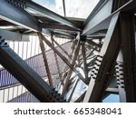 iron beam layer infrastructure   | Shutterstock . vector #665348041