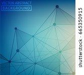 vector lines background dots... | Shutterstock .eps vector #665350915