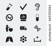 set of 12 editable health icons....