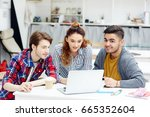 creative students looking for... | Shutterstock . vector #665352604
