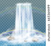 realistic transparent  nature ... | Shutterstock .eps vector #665364499