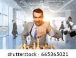 competition and strategy in... | Shutterstock . vector #665365021