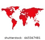 world map abstract full color... | Shutterstock .eps vector #665367481
