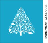 christmas tree | Shutterstock .eps vector #665370211