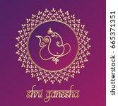 indian god ganesha vector... | Shutterstock .eps vector #665371351