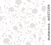 vector pattern with flowers....   Shutterstock .eps vector #665371354