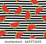 vector illustration of seamless ... | Shutterstock .eps vector #665372635