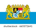 flag of free state of bavaria   ... | Shutterstock .eps vector #665372641