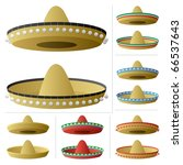 Sombrero In 2 Positions And 6...