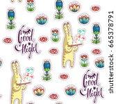 good night lettering. vector... | Shutterstock .eps vector #665378791