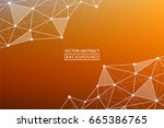 abstract line. vector abstract... | Shutterstock .eps vector #665386765
