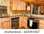 open kitchen with updated... | Shutterstock . vector #665392567