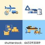 digital vector yellow blue... | Shutterstock .eps vector #665393089