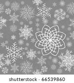 abstract seamless snowflake... | Shutterstock . vector #66539860