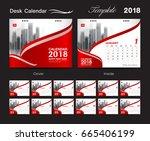 desk calendar for 2018 year ...