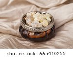 frankincense is an aromatic... | Shutterstock . vector #665410255