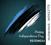 estonia independence day... | Shutterstock .eps vector #665412775