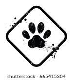 paw symbol. editable vector...   Shutterstock .eps vector #665415304