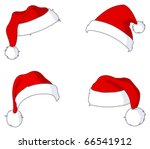 santa hat set | Shutterstock .eps vector #66541912