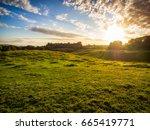 summer countryside morning...   Shutterstock . vector #665419771
