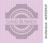 good business pink emblem.... | Shutterstock .eps vector #665420419