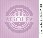 golf retro pink emblem | Shutterstock .eps vector #665421781