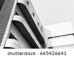 black and white city...   Shutterstock . vector #665426641