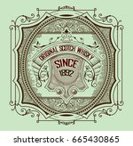 art deco whiskey card | Shutterstock .eps vector #665430865
