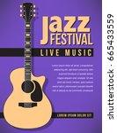 jazz festival music background...   Shutterstock .eps vector #665433559