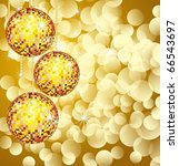 christmas disco ball  on lights ... | Shutterstock . vector #66543697