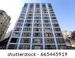 old buildings near viaduct joao ... | Shutterstock . vector #665445919