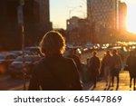 toronto bloor street on a...   Shutterstock . vector #665447869
